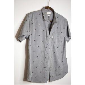 Reindeer Buttoned Shirt Walker Refinery Medium